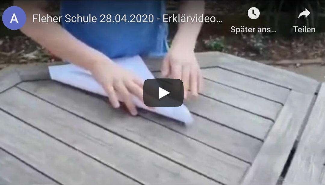 Einen Papierflieger basteln